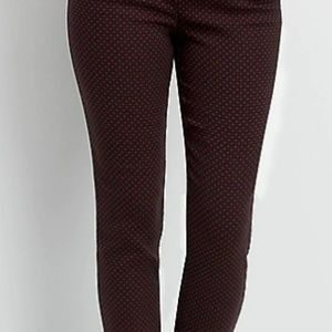Maurices dot print stretch pull on black pants